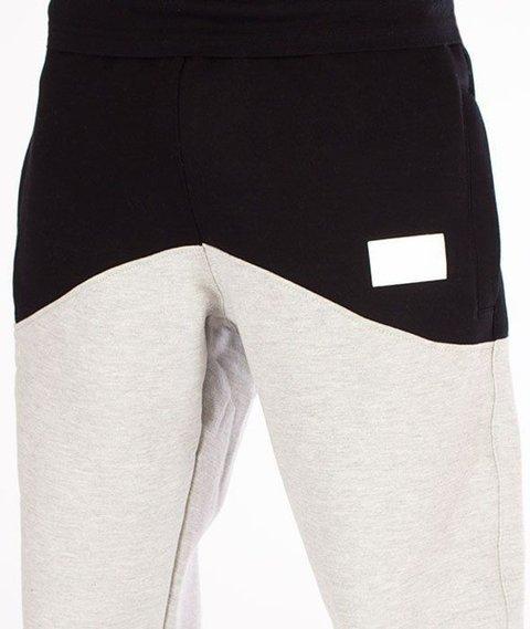 SmokeStory-Premium Front Back Regular Spodnie Dresowe Szare