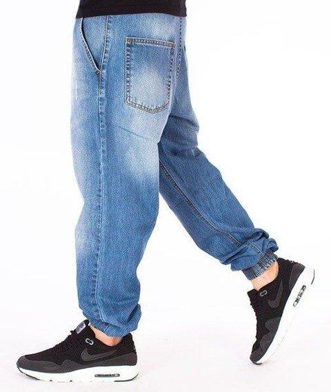 SmokeStory-Premium Jogger Jeans Regular Spodnie Wycierane z Zagnieceniami