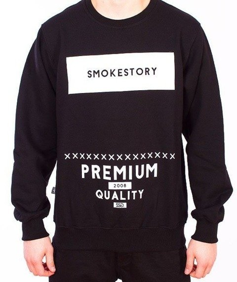 SmokeStory-Rectanagle Bluza Czarna