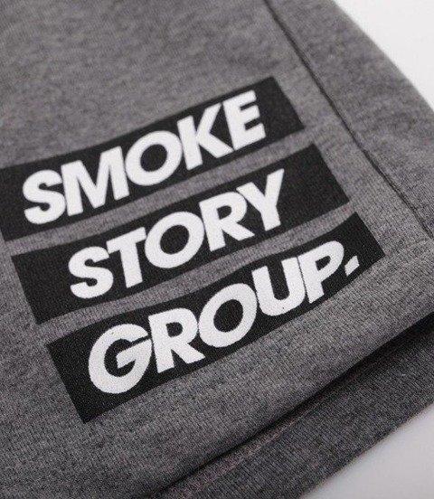 SmokeStory-SMG Three Lines Krótkie Spodnie Bawełniane Ciemny Szary