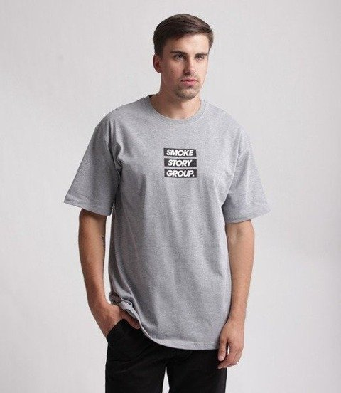 SmokeStory-SMG Three Lines T-Shirt Szary