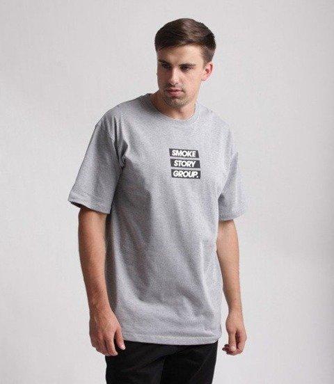 SmokeStory-SMG Three Lines T-Shirt Szary