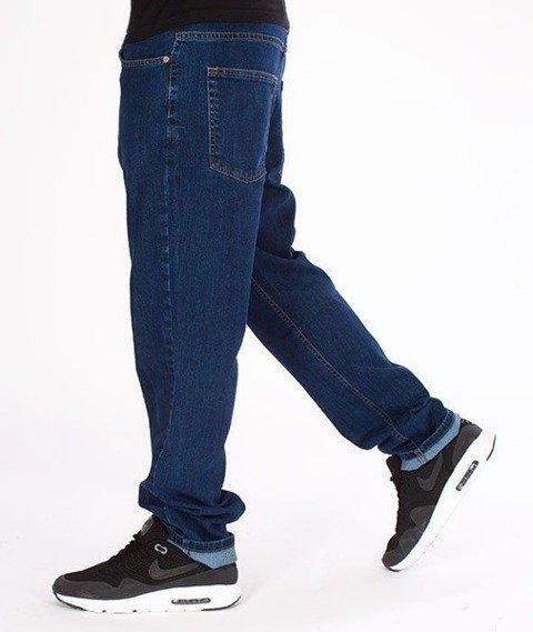 SmokeStory-SSG Big Outline Slim Jeans Medium Blue