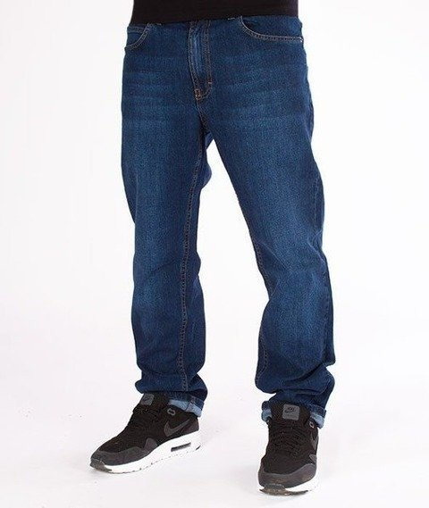 SmokeStory-SSG Big Outline Slim Jeans Wycierane