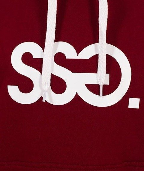 SmokeStory-SSG Classic Bluza Kaptur Bordowa
