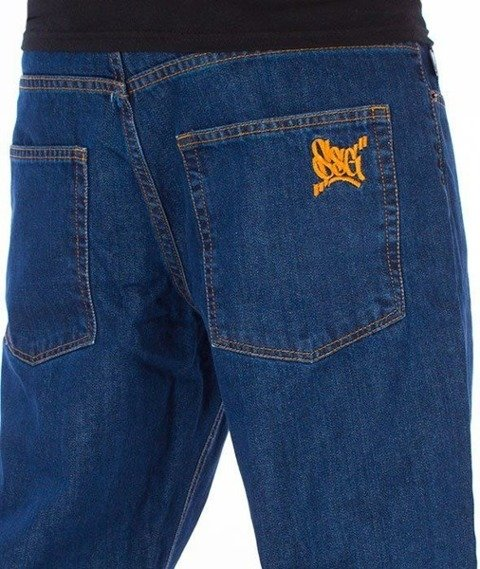 SmokeStory-SSG Tag Slim Jeans Medium Blue
