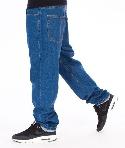 SmokeStory-SSG Tag Slim Jeans Spodnie Light Blue