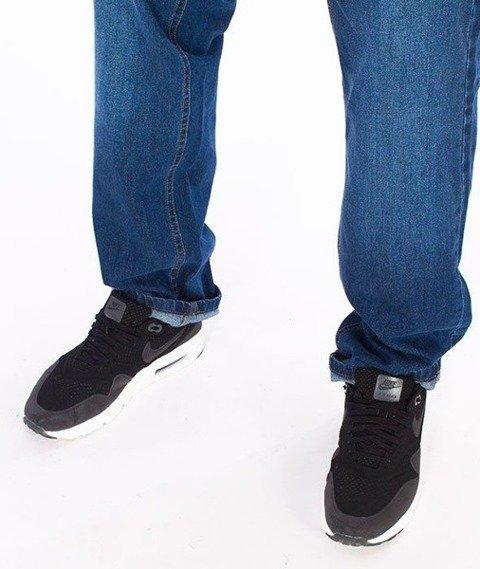 SmokeStory-SSG Tag Slim Jeans Spodnie Wycierane Niebieskie