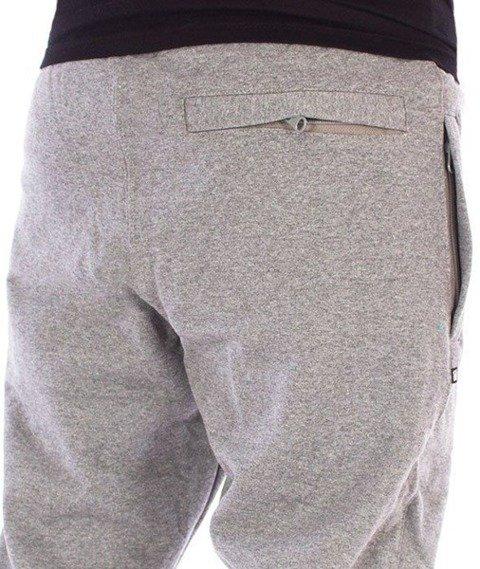 SmokeStory-Slim Skin Spodnie Dresowe Ciemny Melanż