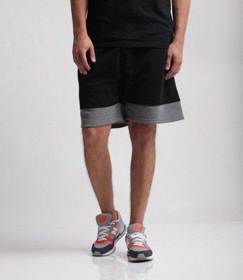 SmokeStory-Small Double Krótkie Spodnie Bawełniane Czarne