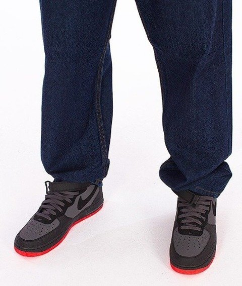 SmokeStory-Smoke Tag Baggy Jeans Dark Blue