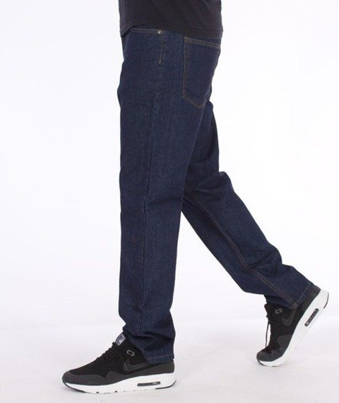 SmokeStory-SmokeStory Slim Jeans Dark Blue