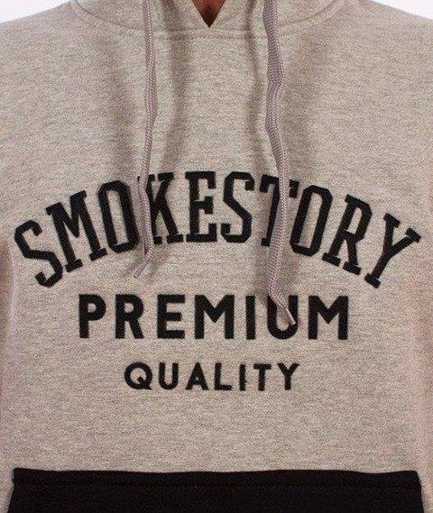 SmokeStory-Star Bluza Kaptur Szara