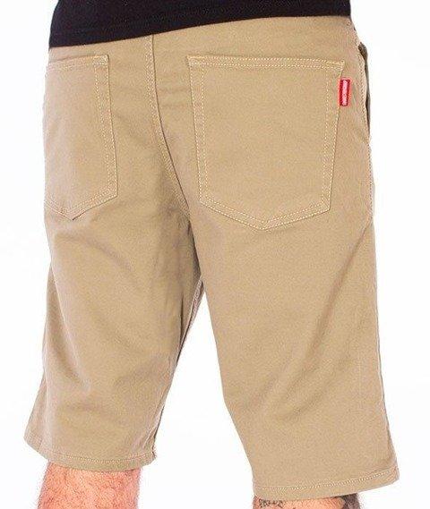 SmokeStory-Szorty Chino Guma Krótkie Spodnie Beż