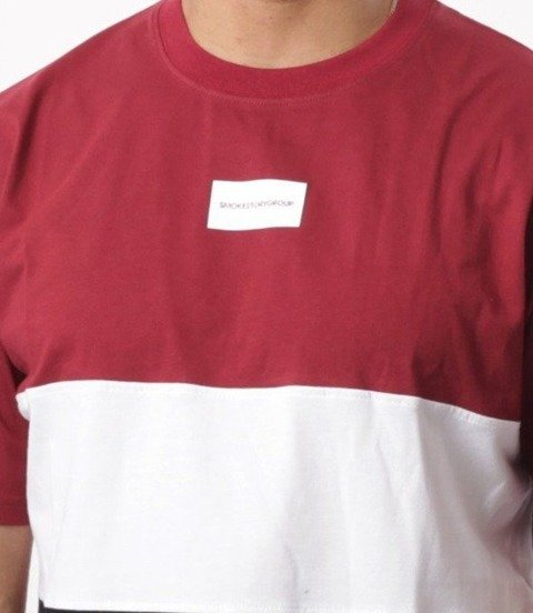 SmokeStory-Three Colors T-Shirt Bordo