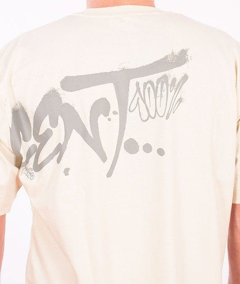 Stoprocent-Fatcap T-Shirt Beżowy