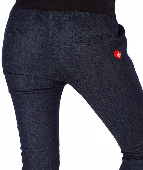 Stoprocent-Highjogger Jeans Spodnie Damskie Granatowe