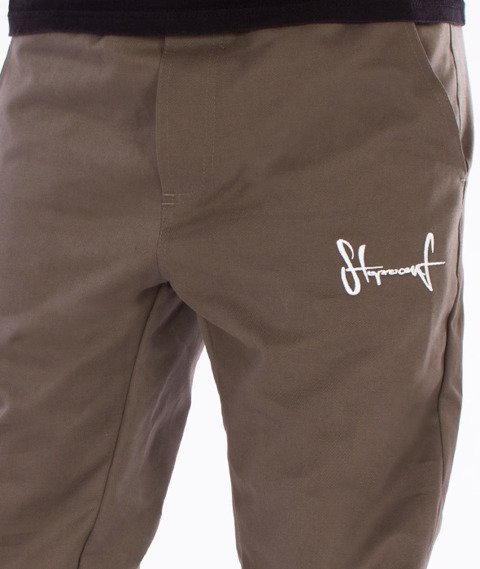 Stoprocent-SJ Classic16 Spodnie Jogger Khaki