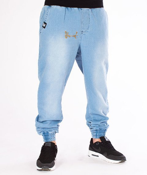 Stoprocent-Spodnie SJJ Classic Jeans Jogger Blue