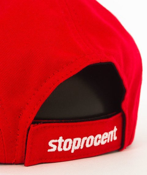 Stoprocent-Tag 5Panel Snapback Czerwony