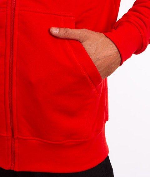 Stoprocent-Tagzip16 Bluza Kaptur Rozpinana Czerwona