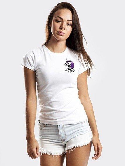 Stoprocent-Unicorn T-Shirt Damski White