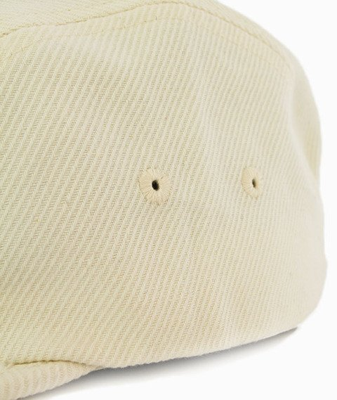 Stussy-Basic Logo Camp Cap 5 Panel Czapka Off White