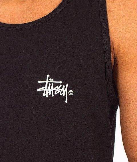 Stussy-Basic Logo Tank Top Black