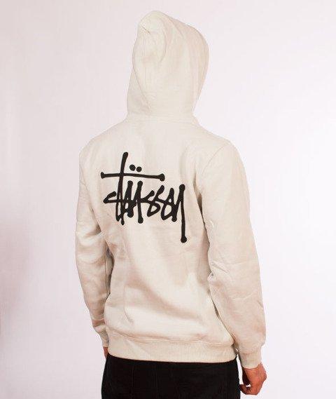 Stussy-Basic Stussy Hood Bluza Kaptur Stone