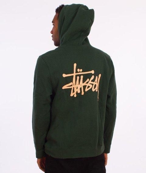 Stussy-Basic Stussy Hood Bluza Kaptur Zielony