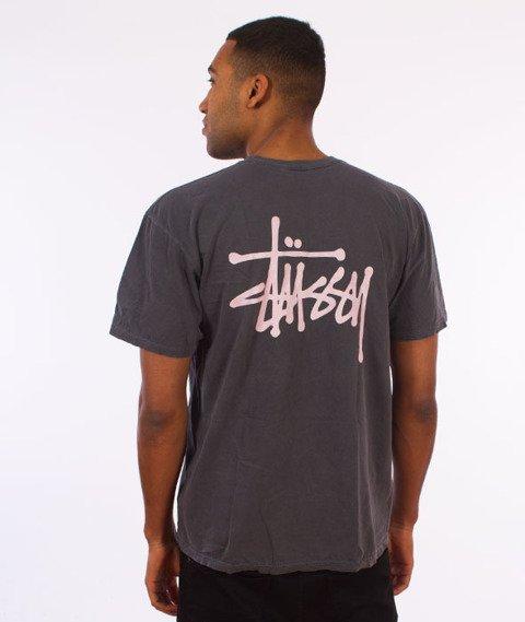 Stussy-Basic Stussy Pig. Dyed T-Shirt Black