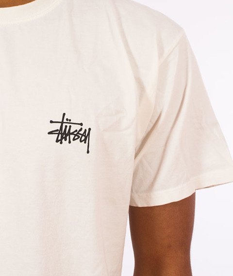 Stussy-Basic Stussy Pig. Dyed T-Shirt Natural
