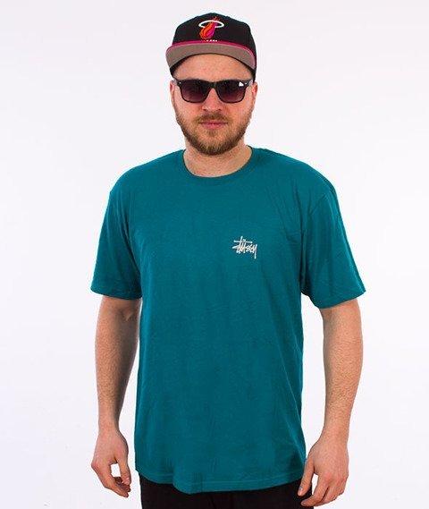 Stussy-Basic Stussy T-Shirt Dark Teal