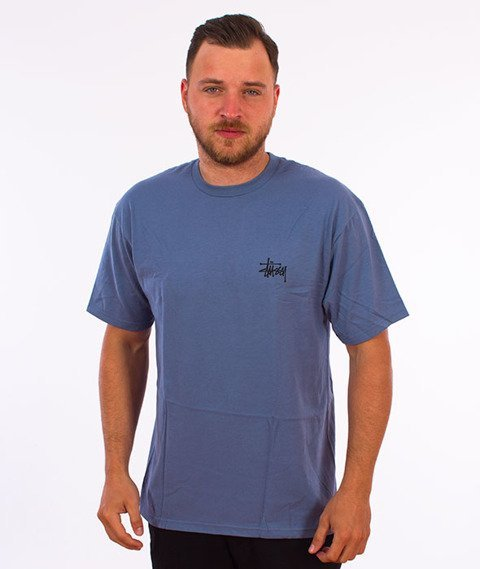 Stussy-Basic Stussy T-Shirt Steel
