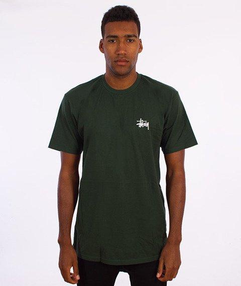 Stussy-Basic T-Shirt Zielony