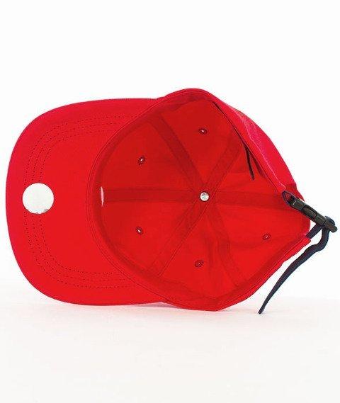 Stussy-Contrast Strap Cap Snapback Czapka Red