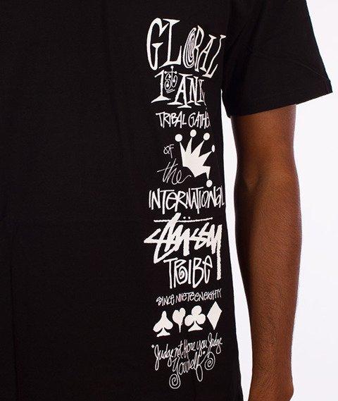 Stussy-Global Gathering T-Shirt Czarny