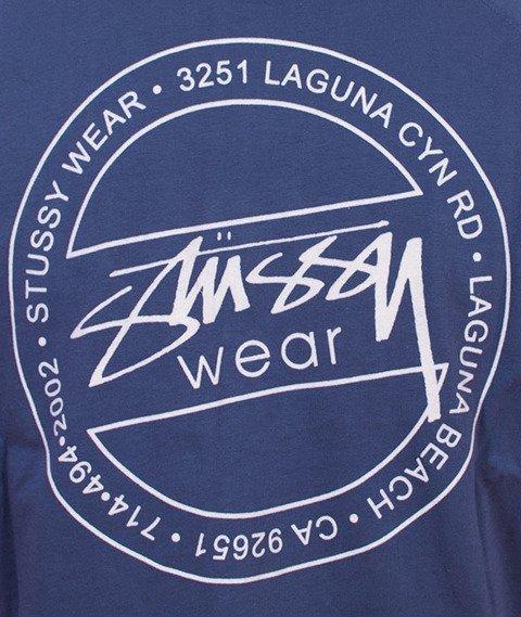 Stussy-Laguna Dot Raglan Jersey Navy