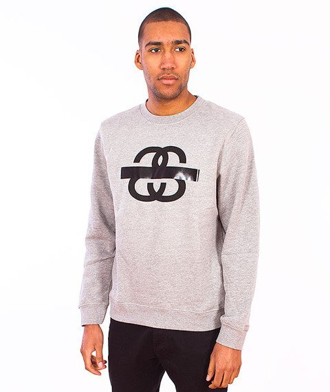 Stussy-SS Taped Crewneck Grey Heather