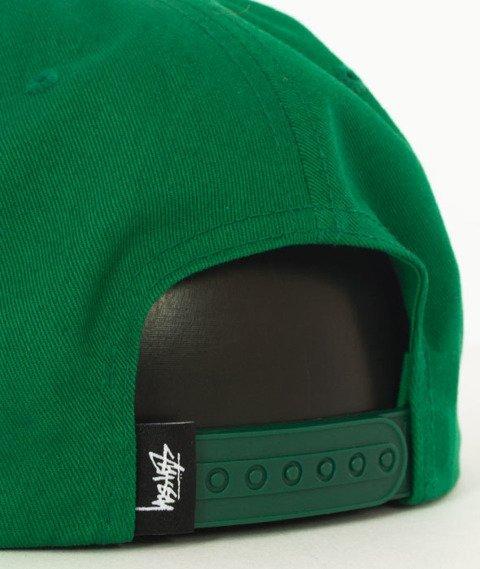 Stussy-Stock Lock Cap Snapback Czapka Green