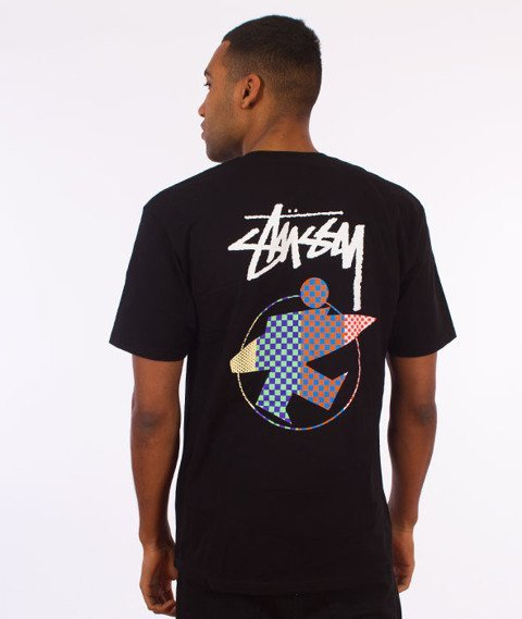 Stussy-Surfman Check T-Shirt Black