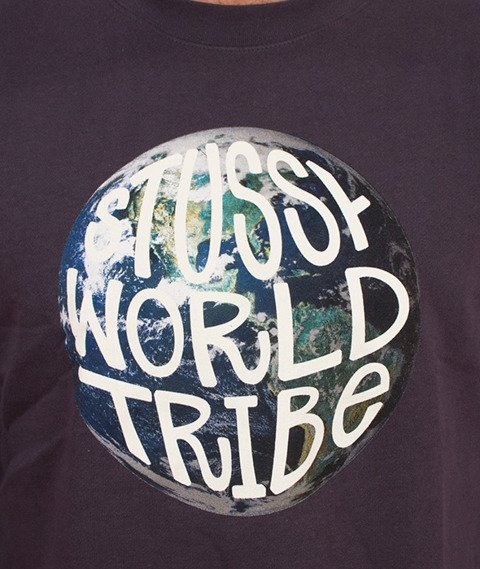 Stussy-Swt Globe Crewneck Midnight