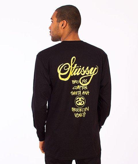 Stussy-World Tour Longsleeve Black/Yellow