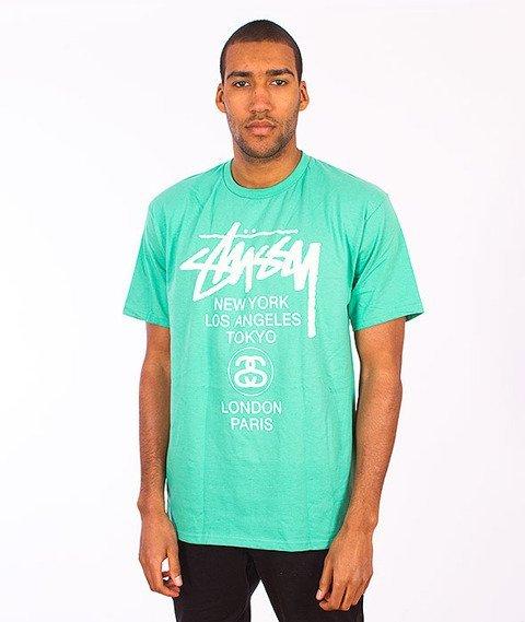 Stussy-World Tour T-Shirt Green