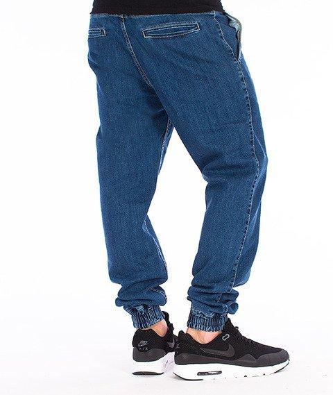 Tabasko-Script Spodnie Jogger Jeans Niebieskie