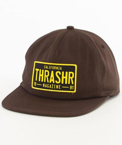 Thrasher-DMV Snapback Brown
