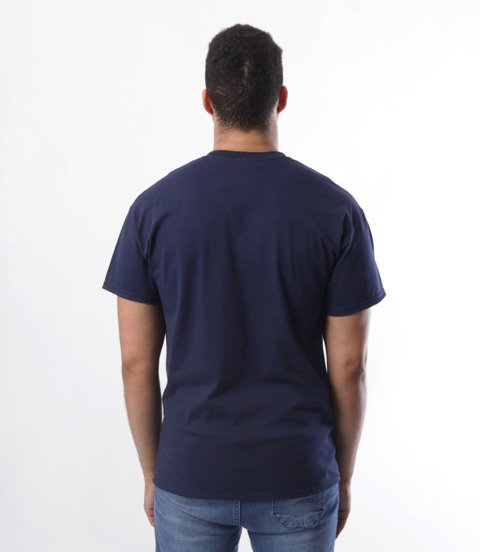 Thrasher-Flame Logo T-Shirt Granatowy