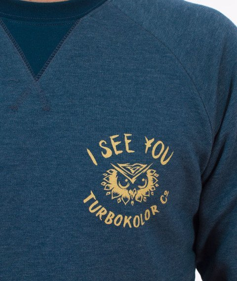 Turbokolor-I See You Crewneck Bluza Heather Navy