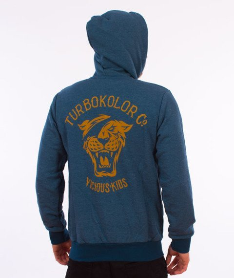 Turbokolor-OG Tiger Bluza Kaptur Zip Heather Navy