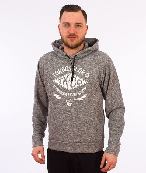 Turbokolor-TK Hoody Bluza Kaptur Heather Grey